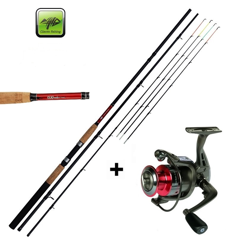AKCE GIANTS FISHING CLX Feeder TR 11ft Medium + naviják